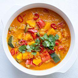 Wegańskie curry z dynią i soczewicą | Kwestia Smaku // można dać bataty zamiast dyni