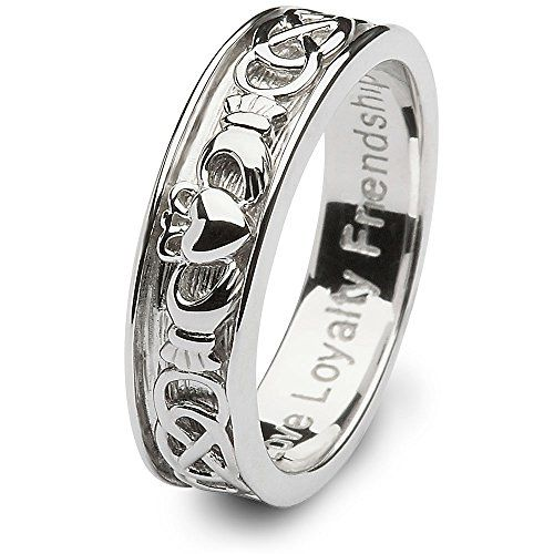 Mens Claddagh Wedding Ring SM-SD9 - Size: 9 Made in Ireland. CLADDAGH RING STORE http://www.amazon.com/dp/B00IJ3DB0Q/ref=cm_sw_r_pi_dp_QzJ.vb13AG5GF