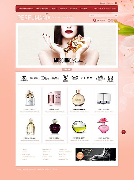 bright pink eCommerce web design