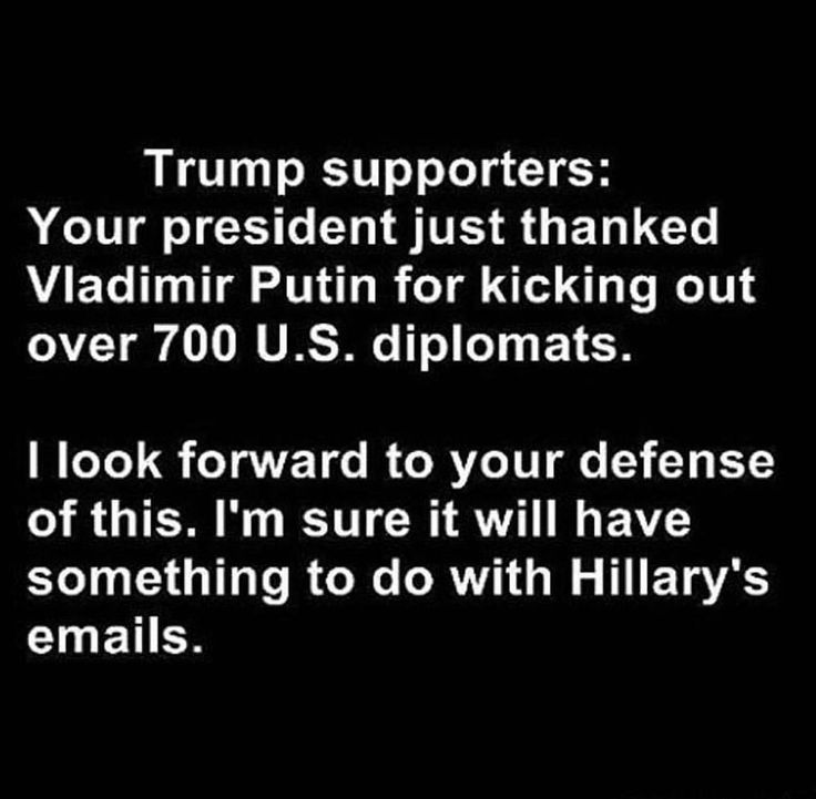 Trump:  he keeps thanking, praising, and asking for help from Russia/Putin.