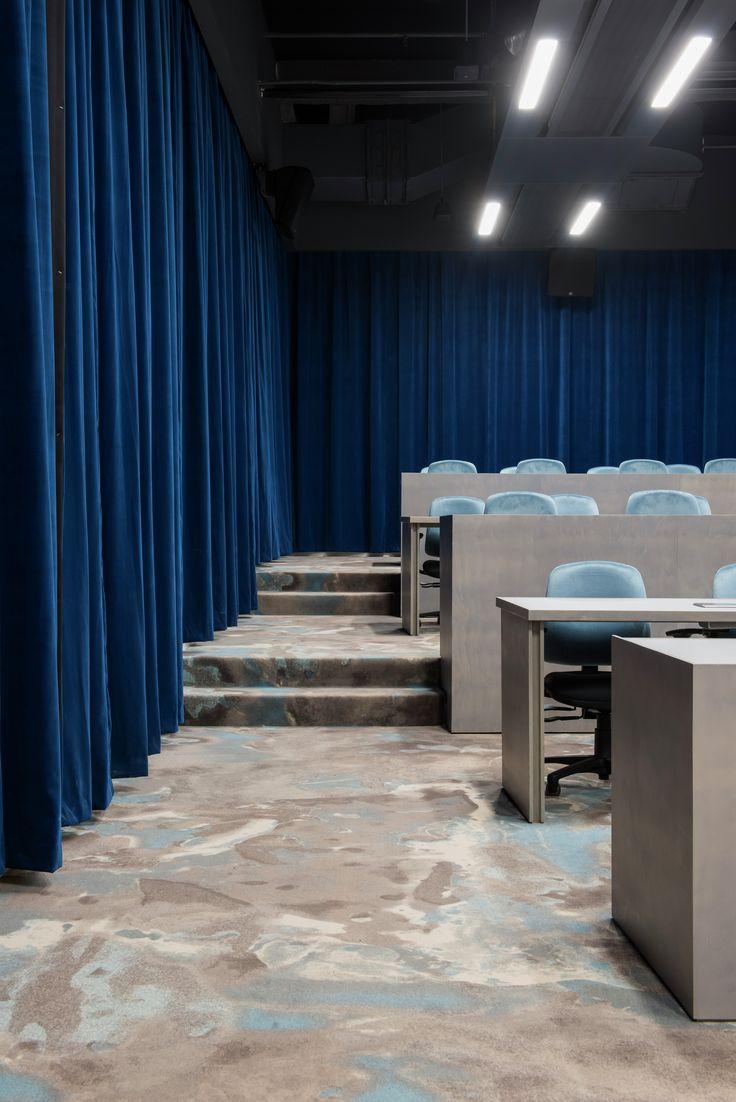 Location: Arts West, University of Melbourne, Australia. Carpet design: Montgolfier blue (standard collection)