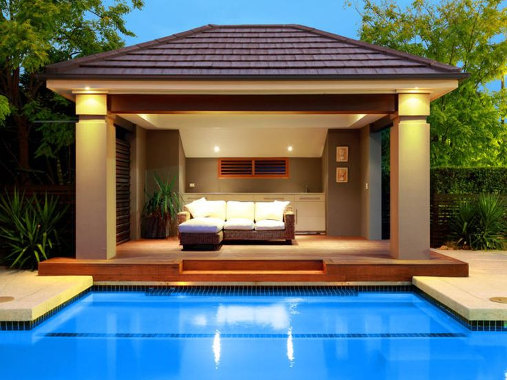Pool design swimming pool patio designs backyard deck for Garden cabana designs