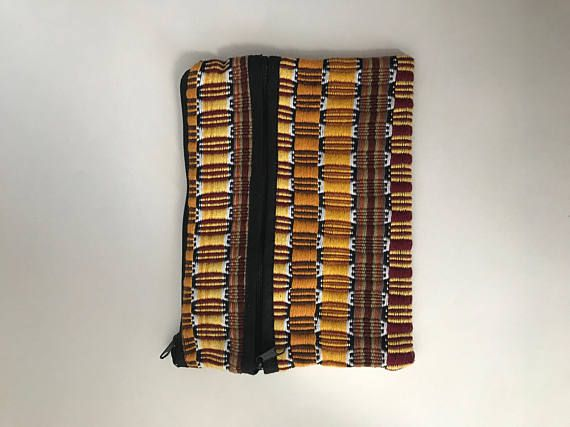 Mayan Woven Tri-Pocket Stationary Pouch from Marula Market. 20% of profits will help build a rescue center in Poptun, Guatemala!