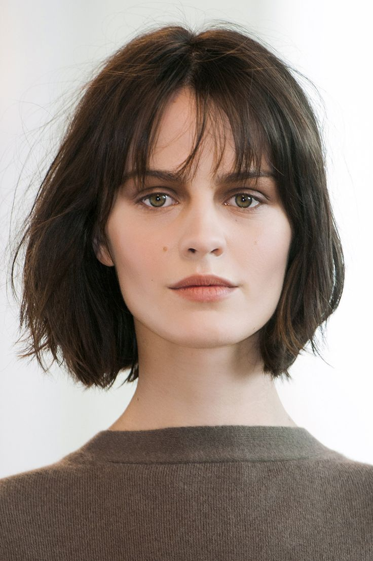 chin length bob haircuts | Layered Chin Length Bob with Bangs ...