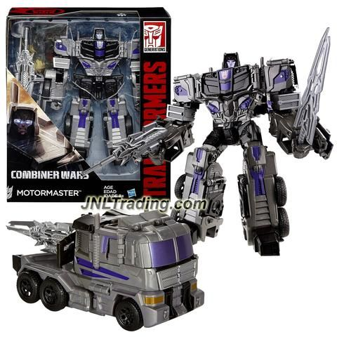"""Hasbro Year 2015 Transformers Generations Combiner Wars Voyager Class 7"""" Tall Figure - MOTORMASTER w/ Blaster, Sword & Collector Card (Vehicle:Truck)"""
