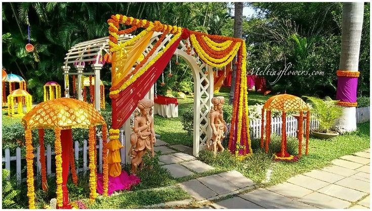 Mehndi and Sangeet décor | Mehndi decorations | Sangeet ...
