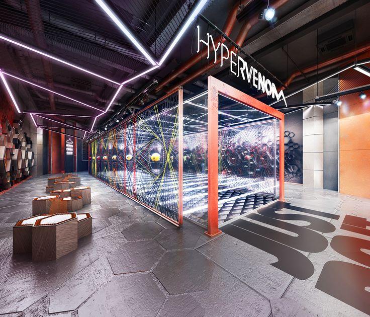 NIKE Hypervenom Store on Behance Sportswear store, Nike