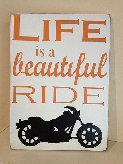 Life is a Beautiful Ride Motorcycle Style  by sugarcoatedsentiment, $31.00