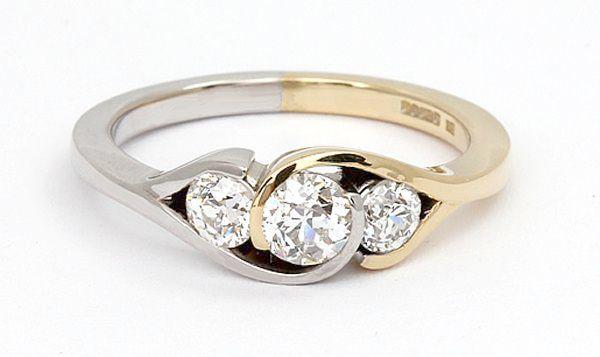 Sterling Silver Diamond Hoop Earrings Fine Diamond Jewelry Beautiful Rings Jewelry Rings
