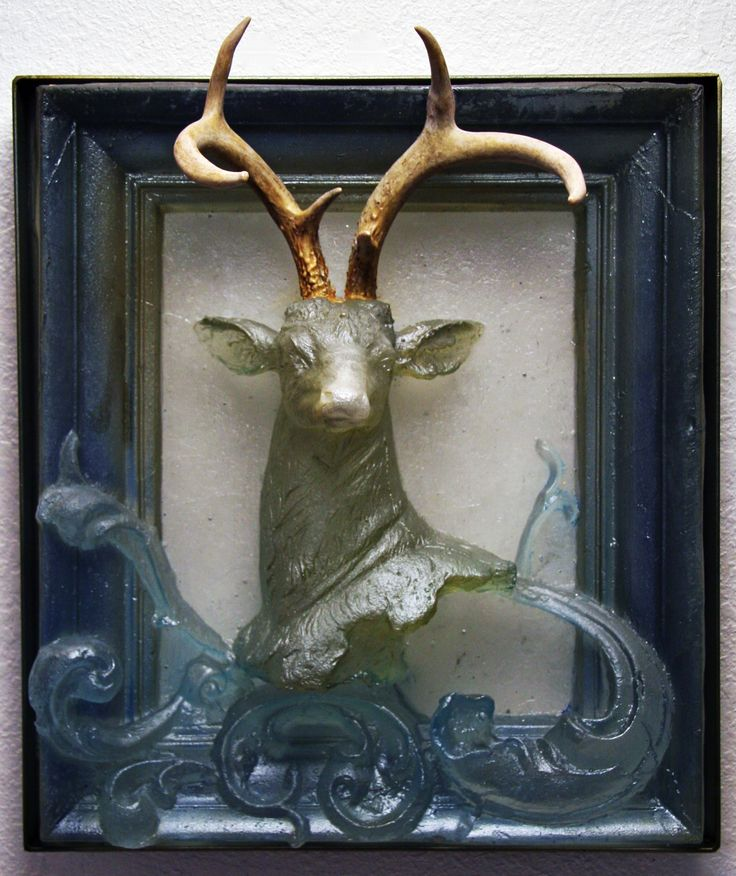 Katja Fritzche Stag, 2015 18.5 x 15.5 x 7 inches Cast glass Available