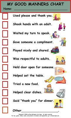 Best 25 Good Manners Ideas On Pinterest Boy Child