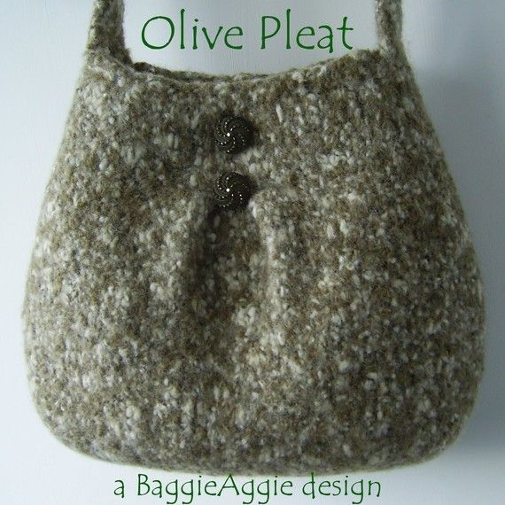 Knitting Bag Pattern : ... DOWNLOAD Felted Purse Pattern, PLEAT, Felted Bag Pattern, Kni