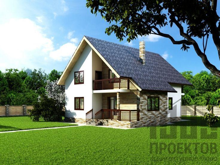 Проект дома из блоков 1658