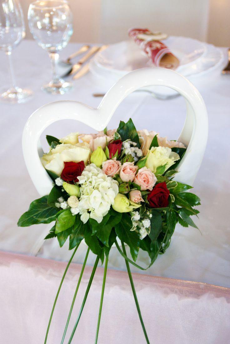 Szív alakú kerámia dekoráció - Heart shaped wedding decor