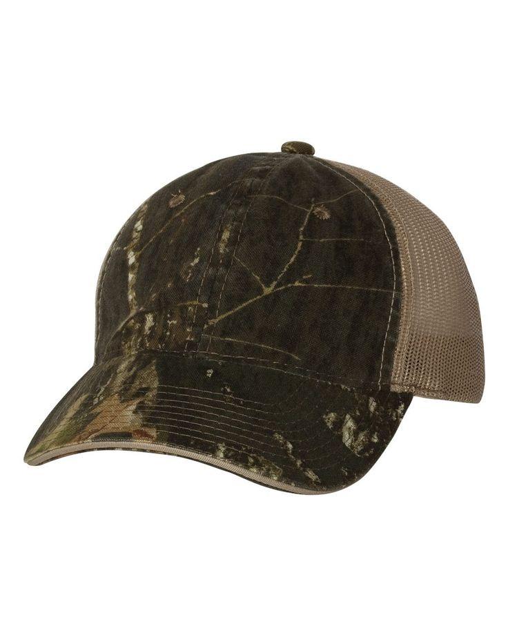 Outdoor Cap - Washed Brushed Mesh Cap - CGWM301 Mossy Oak Breakup/ Khaki