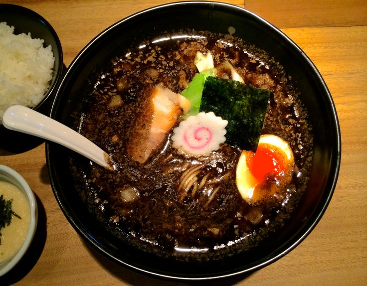 black women japanese restaurant in japan | quick firing in the kitchen gives Gogyo's ramen a deep black hue and ...