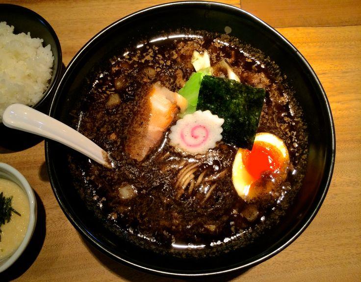 black women japanese restaurant in japan | quick firing in the kitchen gives Gogyo's ramen a deep black hue and ...