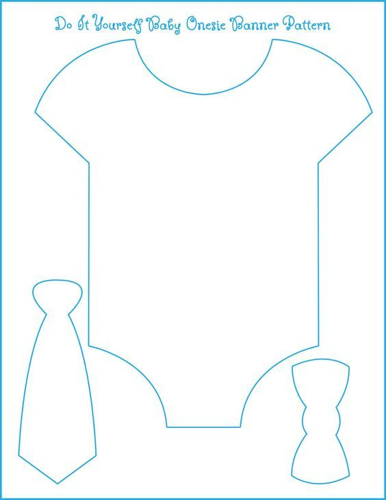 Template for our onesie/bow tie banner. All we need is to find the perfect paper. Lots of cutting and gluing but it should turn out great: