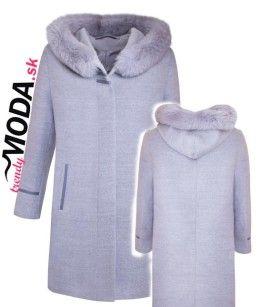 Kvalitný šedý kabát pre moletky - trendymoda.sk