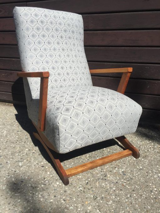Geometric Pale Blue Rocking Chair by Lily and Vine - Arrowtown New Zealand