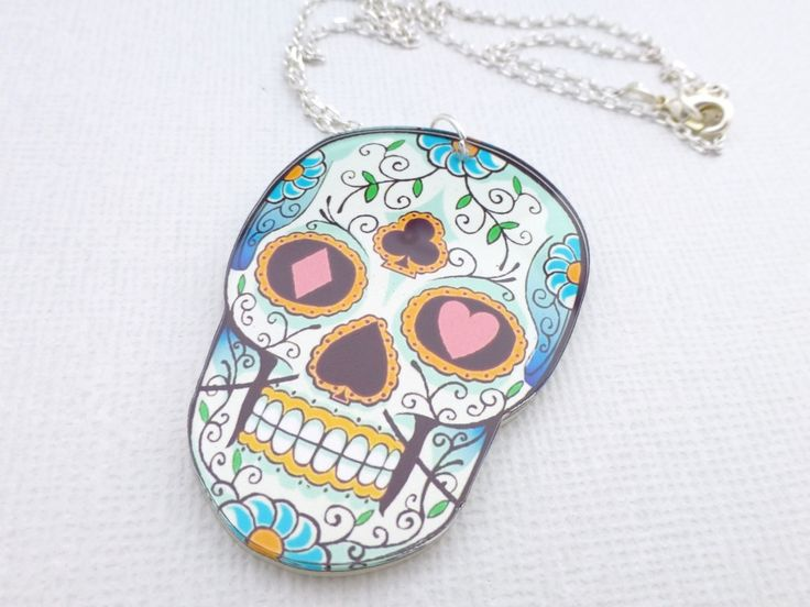 Day of the Dead Skull Necklace -  Whimsy & Grace NZ
