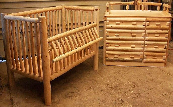 Log Nursery Furniture Crib Changera Jpg Provided By Montana Custom Troy Baby Too Pinterest And Logs