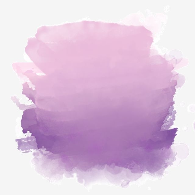 Purple Watercolor Splash Ink Purple Ink Cartoon Illustration
