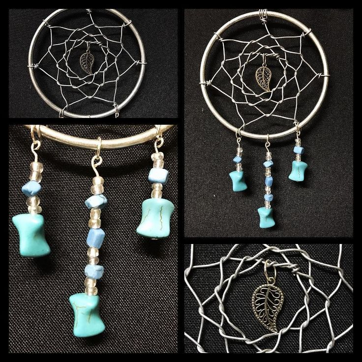 Mini Dreamcatcher!! Available now! Hand woven wire and turquoise beads! Beautiful handmade piece! #torileydesigns #handmade #wire #unique #oneofakind #available #turquoise #beads #dreamcatcher #mini #blue #statement #small http://ift.tt/2rLdB4E