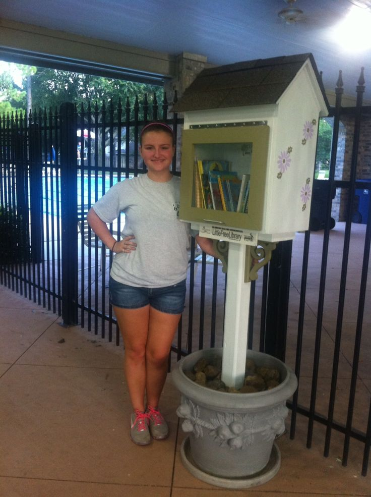 Erin Baker. Houston, TX. I set up a Little Free Library in my neighborhood as my Girl Scout Silver Award project. My neighbors and friends were very helpful and supportive of the project.