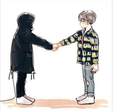 what if yoongi was shaking hands with Agust D