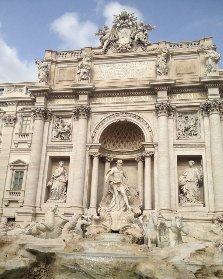 The Trevi fountain in Rome built in 1762, is the largest Baroque fountain in the city.