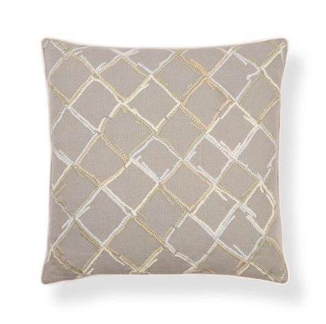 Clandon Embroidered Natural Cushion