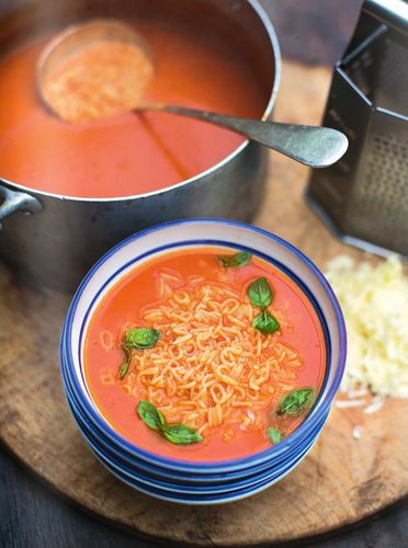 78 best jamie oliver recipes we love images on pinterest cooking alphabet tomato soup fresh basil cheddar cheese forumfinder Gallery