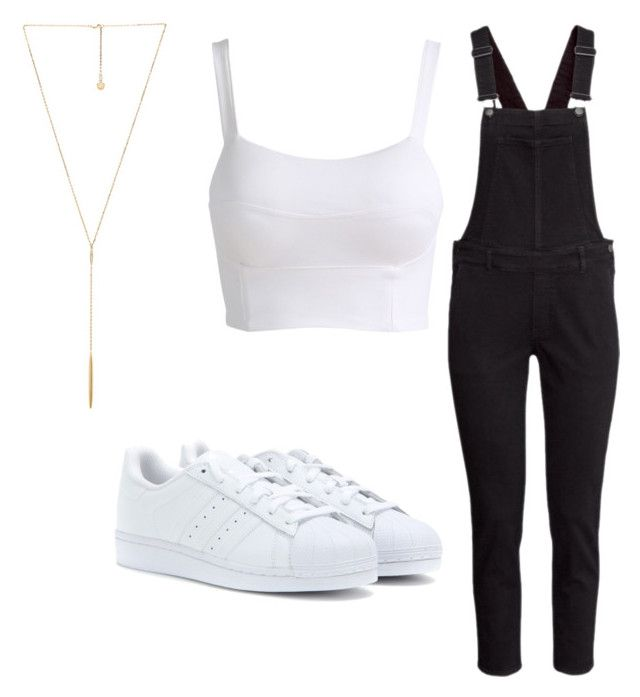 """Geen titel #6"" by srslyidgaf ❤ liked on Polyvore featuring H&M, Michael Kors and adidas Originals"