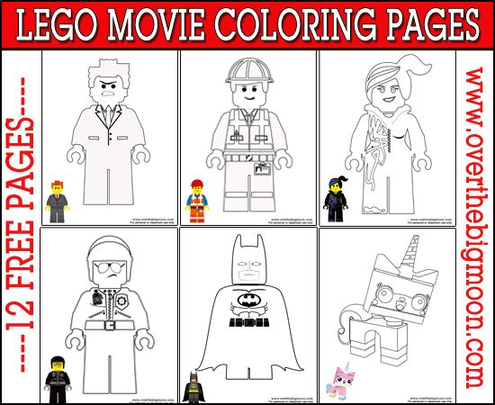 Free Printable Lego Movie Coloring Pages. Yay! I love that they included a picture of the mini-figure in color at the bottom.