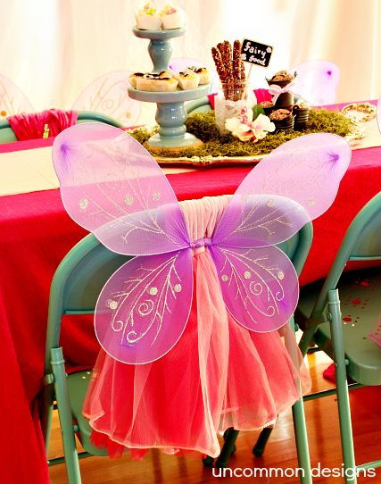 Fairy Tea Party... A Chair with Wings and a Tu Tu  www.uncommondesignsonline.com