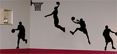 Basketball #players and net wall #vinyl sticker decal art living room #bedroom an,  View more on the LINK: http://www.zeppy.io/product/gb/2/151418128151/