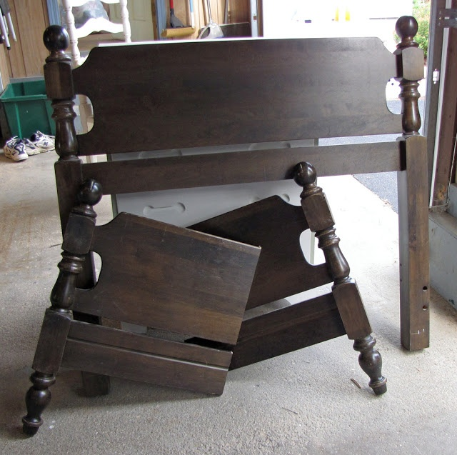 Bed into a bench