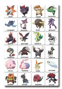 cartes pokémon 5ème génération à imprimer                                                                                                                                                                                 Plus