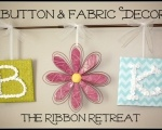 Button and Fabric Decor: Theribbonretreat Com Blog, Craft Ideas