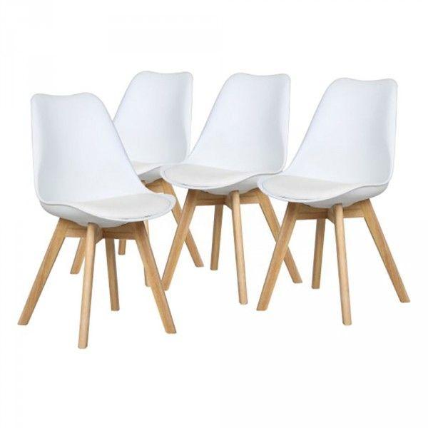 chaise scandinave blanche x4 (GiFi-806114X)