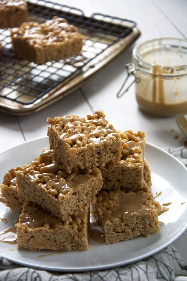 Pumpkin Rice Krispies made with butterscotch and decedent French toast glaze! TheHouseWifeTrainingFiles Use GF rice krispies