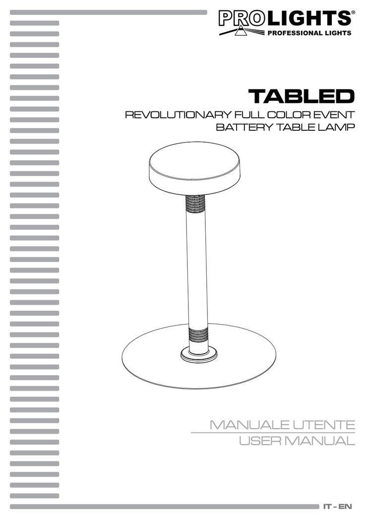 Manuale tabled prolights