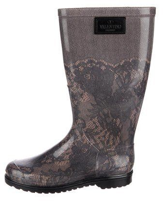 Valentino Rubber Rain Boots. Rain boot fashions. I'm an affiliate marketer. When you click on a link or buy from the retailer, I earn a commission.