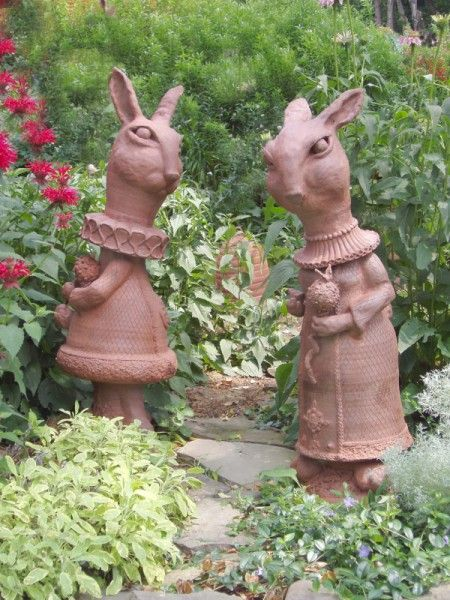 two pieces from a lawn chess set the king and queen amazing