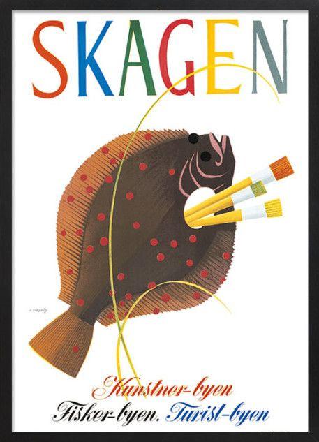 Skagen, Viggo Vagnby. Danmarksplakater. Danish poster. #ViggoVagnby #Plakatgalleridk Plakatgalleri Plakat #Poster #Danmarksplakater #Danishposter.