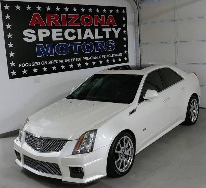 This 2013 Cadillac CTS-V is listed on Carsforsale.com for $45,900 in Tempe, AZ. This vehicle includes 19 Inch High-Polished Wheels, 2-Stage Unlocking Doors, Abs - 4-Wheel, Active Head Restraints - Dual Front, Active Suspension, Air Filtration, Airbag Deactivation - Occupant Sensing Passenger, Ambient Lighting, Antenna Type - Diversity, Antenna Type - Mast, Anti-Theft System - Alarm, Anti-Theft System - Alarm With Remote, Anti-Theft System - Engine Immobilizer, Armrests - Rear Center With…
