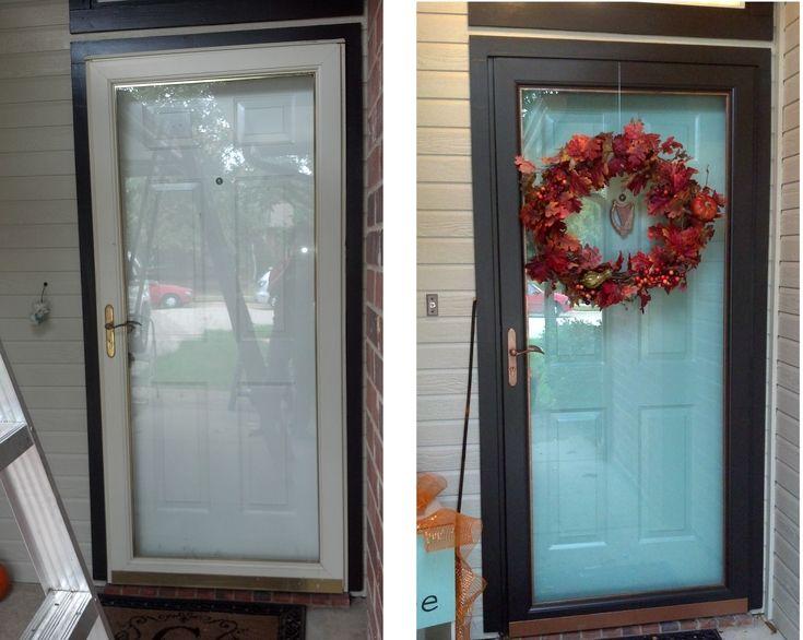 25 Best Ideas About Painted Storm Door On Pinterest Burnt Orange Color Decorative Wood