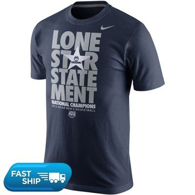 Nike UConn Huskies 2014 NCAA Men's Basketball National Champions Locker Room Statement T-Shirt - Navy Blue #UConn
