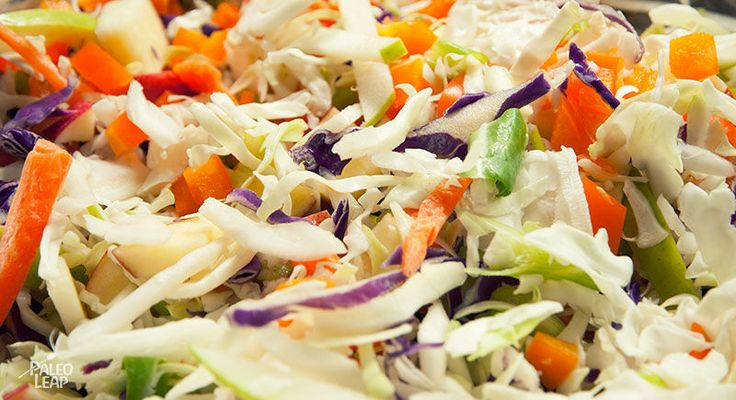A fruity, crunchy take on a favorite option for summer salads. Coleslaw with apples and poppy seeds